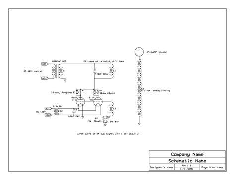 Tesla Coil Circuit Vacuum Tesla Coil