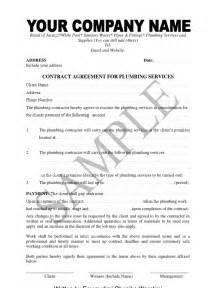 Contract Plumbing Sle Of Plumbing Contract And Material Supply Agreement
