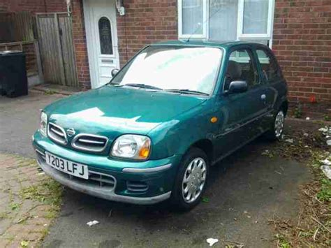 nissan green nissan 2001 micra s green 36 000 genuine car for sale