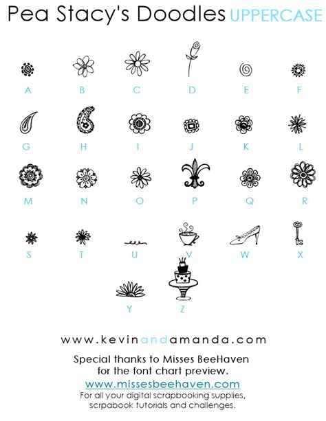 free doodle dingbat fonts pea s doodles