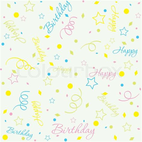 background birthday theme for babies template birthday background vector illustration stock