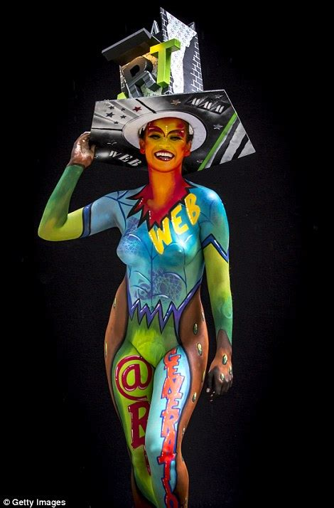 world bodypainting festival themes artists celebrate world bodypainting festival in