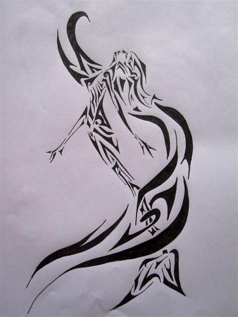 tattoo designs mermaids tribal mermaid by sofeye on deviantart