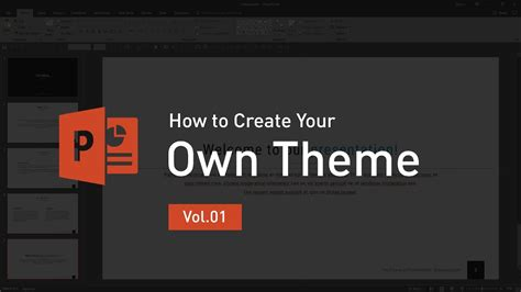 how to make your own powerpoint template how to create your own theme vol 01 powerpoint