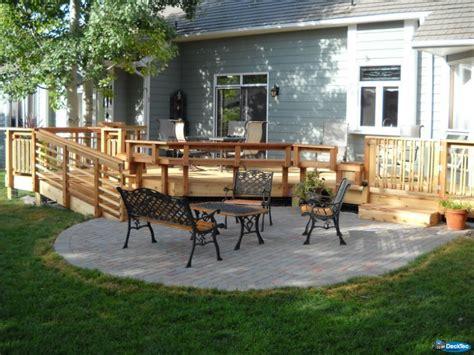 deck patio combinations decktec outdoor designs