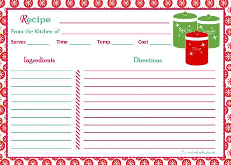 5 x 7 recipe card template luxury free printable recipe cards anthonydeaton