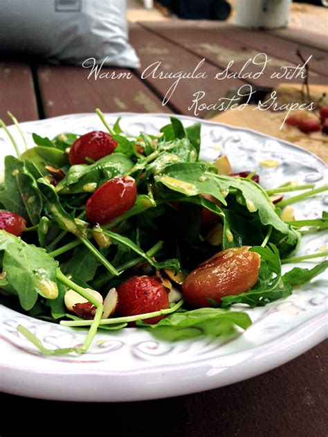 barefoot contessa arugula salad warm arugula salad with roasted grapes peaceful dumpling