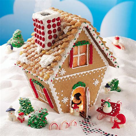 how to design a gingerbread house winter wonderland gingerbread cottage recipe taste of home