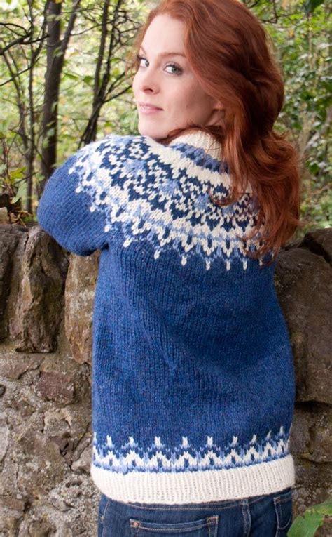 icelandic pattern jumper luxury hand knitted icelandic jersey odin by scotweb