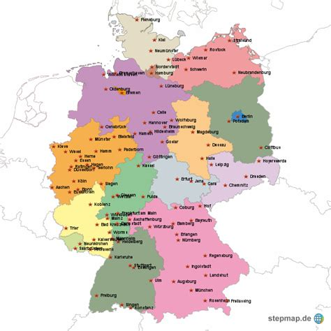 Deutsches Büro Grüne Karte Formular by Bundesl 228 Nder Mra Landkarte F 252 R Deutschland Alle