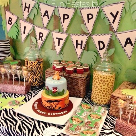 king themed birthday party lion king safari themed 1st birthday party projects to