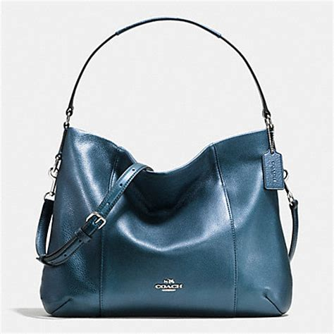 Coach Isabelle Bright Mineral Coach F35809 East West Isabelle Shoulder Bag In Pebble