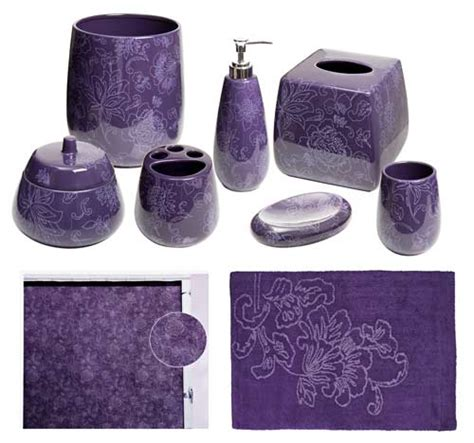 purple bath accessories botanica purple bathroom accessories deluxe set purple