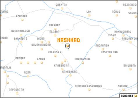 mashhad map mashhad iran map nona net