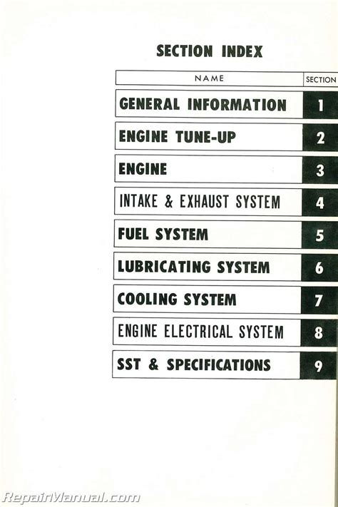 service manual small engine maintenance and repair 1972 ford thunderbird parking system 1956 1972 toyota f engine repair manual