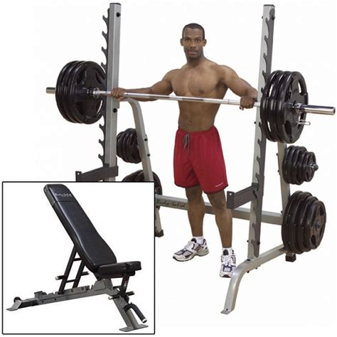 body ch bench press body solid press rack with pro club bench ebay