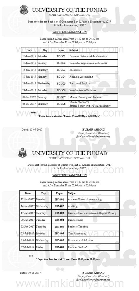 Mba Date Sheet 2014 Punjab by Punjab Pu Lahore B Date Sheet 2018 Part 1 2