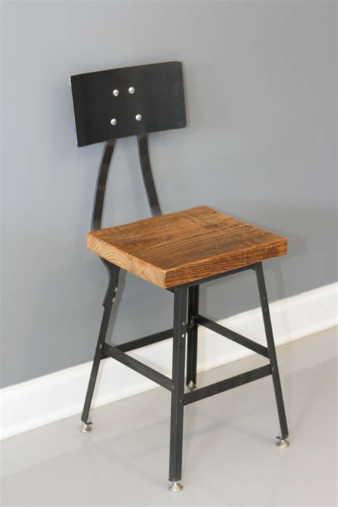 Barstool Shop Shop Stool Chair Industrial Barstool With Back By Dendroco