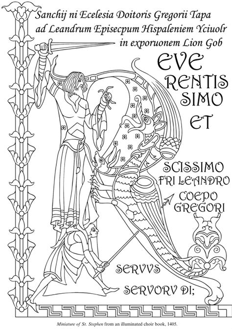 free coloring pages of illuminated letters