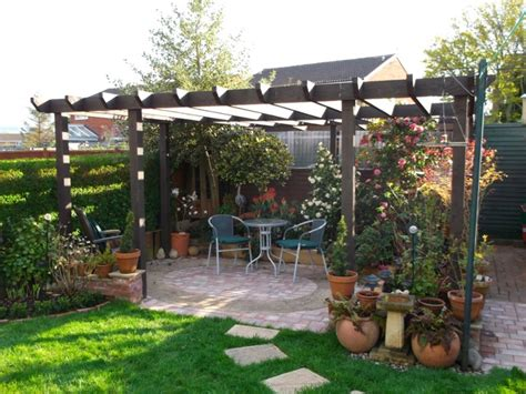 Small Garden Pictures pergola cut no corners taunton somerset