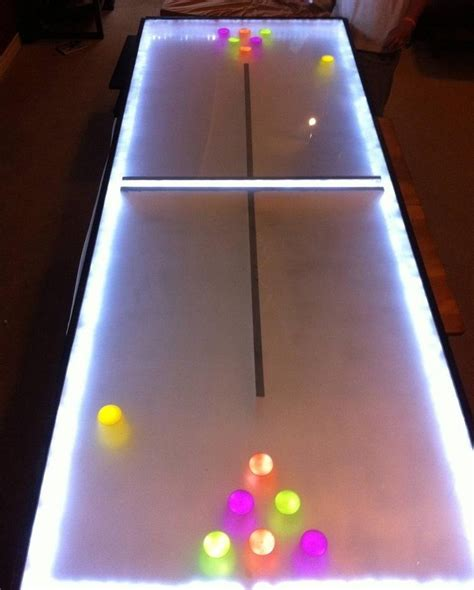 diy pong table light up your with this diy led pong table