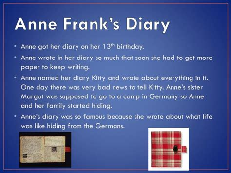 anne frank biography powerpoint ppt anne frank powerpoint presentation id 5405683