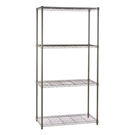 narrow wire shelving carbon grey wire shelving unit 4 shelves h1800 x w900 x d350 mm