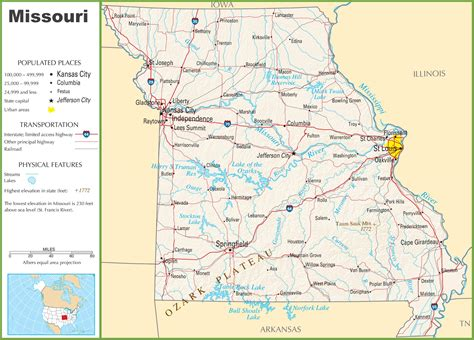 map missouri printable missouri map printable maps