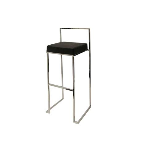Black And White Bar Stool Sleek Bar Stool Black