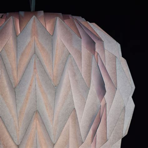 Folding Paper Lanterns - white geometrical shaped folding paper lantern shade