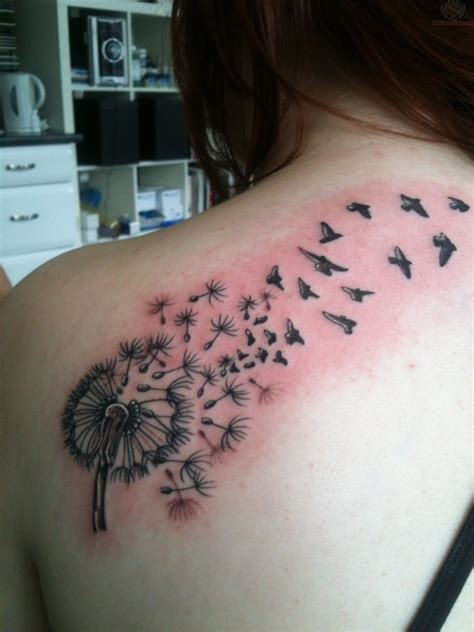 dandelion tattoo with birds dandelion tattoos designs ideas and meaning tattoos for you