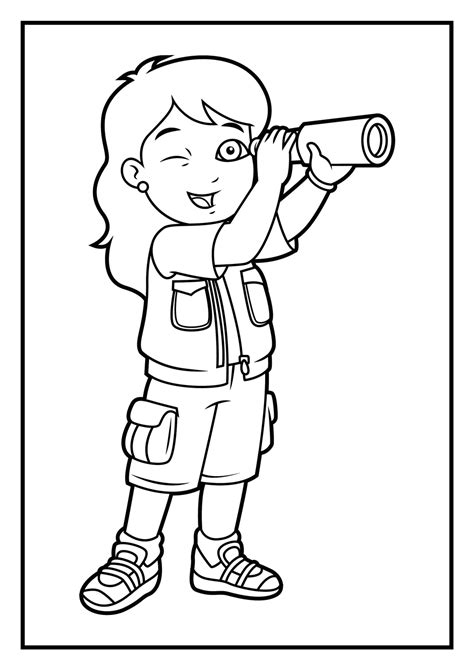 The Explorer Coloring Page coloring pages diego coloring pages
