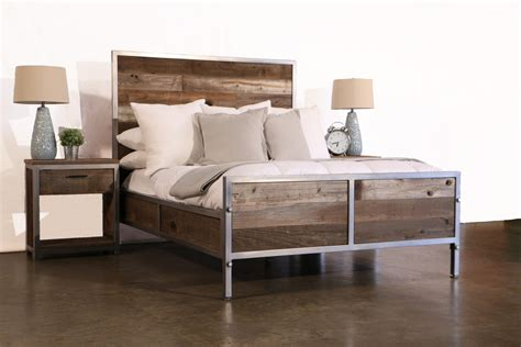 Reclaimed Wood Industrial Bedroom Set By Foundpurpose On Etsy Plank Bedroom Furniture