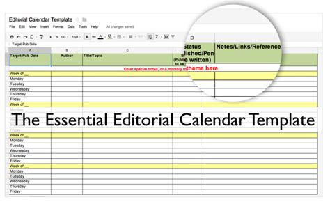 free editorial calendar template free resource the essential editorial calendar template