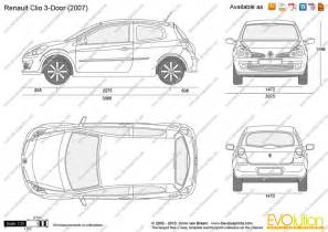 Renault Clio Dimensions The Blueprints Vector Drawing Renault Clio 3 Door
