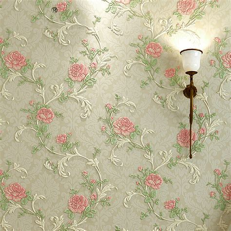 wallpaper for walls floral european style pastoral floral pattern wallpaper for
