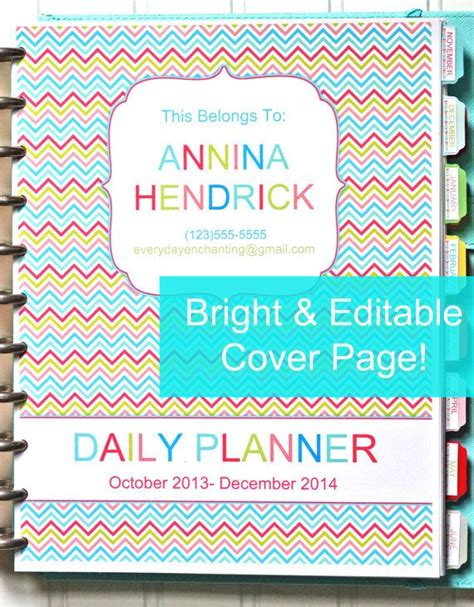 daily planner cover printable 1000 images about printable binder covers on pinterest