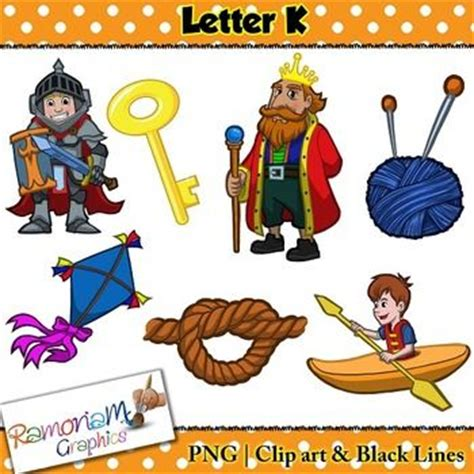 what color starts with k beginning sounds letter k clip set commercial use ok