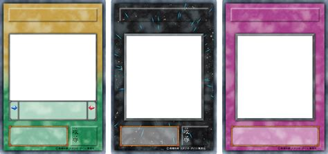 magic card template png jp ygo series 2 deved blanks png by icycatelf on