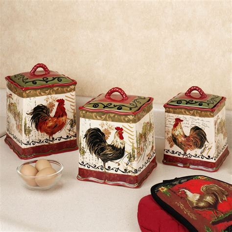 tuscan rooster kitchen canister set perfect match to my