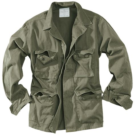 Zurrel Jaket Parka Canvas Premium Green surplus army style lightweight bdu mens cotton