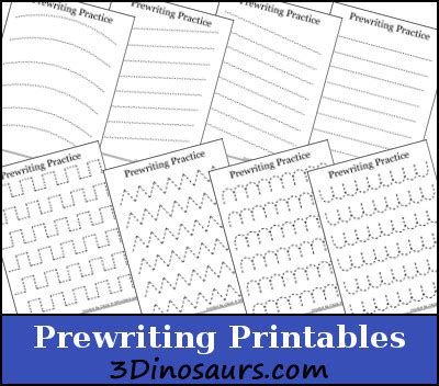 pre writing pattern sheets hands on learning free prewriting practice pattern
