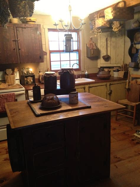 primitive kitchen islands the corner cupboard on the right side all things prim country vintage