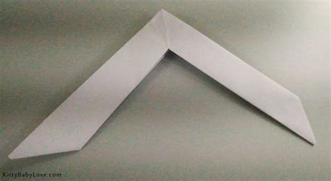 How To Make An Origami Boomerang - baby