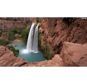 YouWall  Red Rocks Waterfall Wallpaper