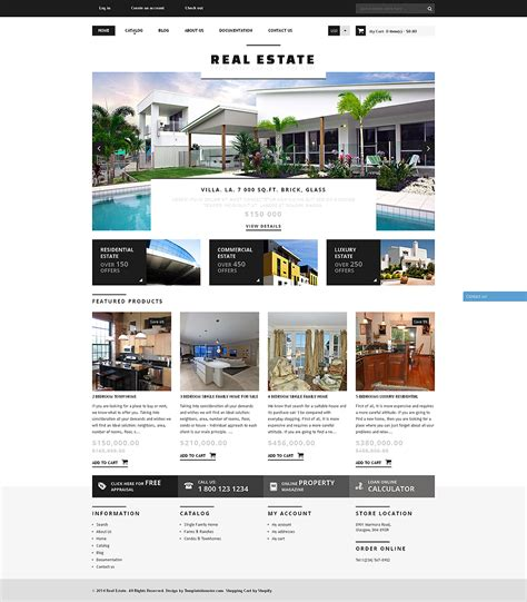 Bootstrap Real Estate Agency Responsive Shopify Theme Templates Buy Website Templates Web Real Estate Responsive Website Templates Free