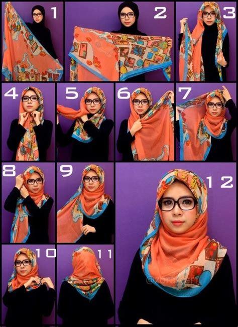 Alodia Square Segi Empat Wanita cara memakai jilbab segi empat untuk wajah bulat