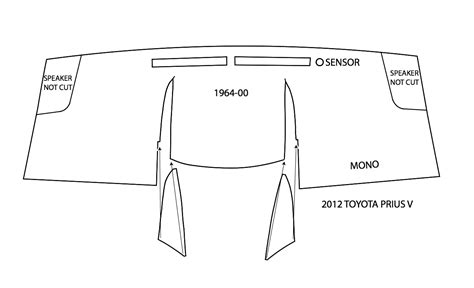 Andst Cover Dashboard Toyota Karpet Dashboard Xx 2012 2016 toyota prius v dash covers to prius v dash mat