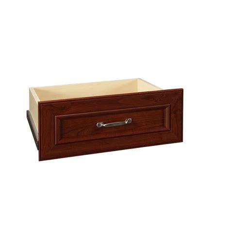 wood closet drawers closetmaid impressions 25 in w x 10 in h dark cherry