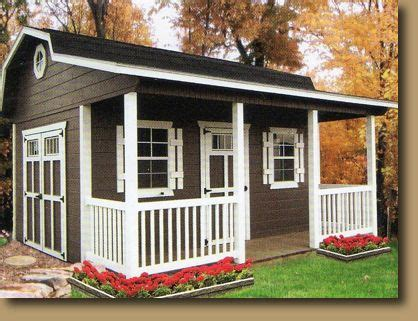 porch barn style shed  porch